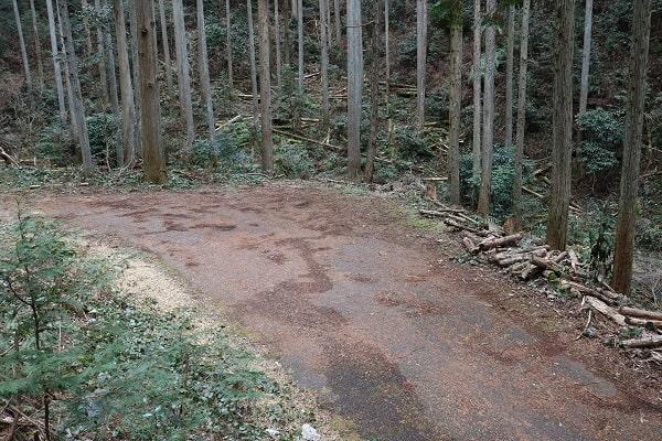 権現山登山口のスペース