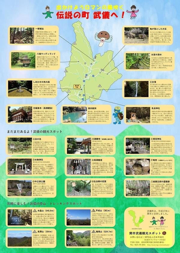 関市武儀観光マップ