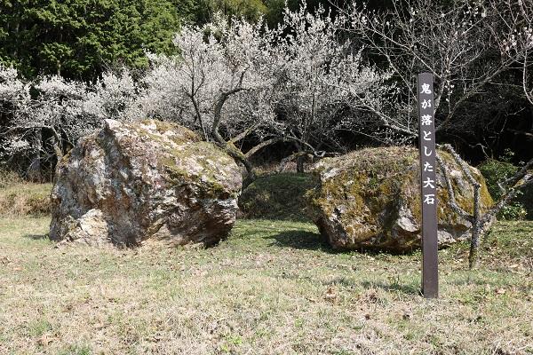 鬼が落とした大石(岐阜県関市)