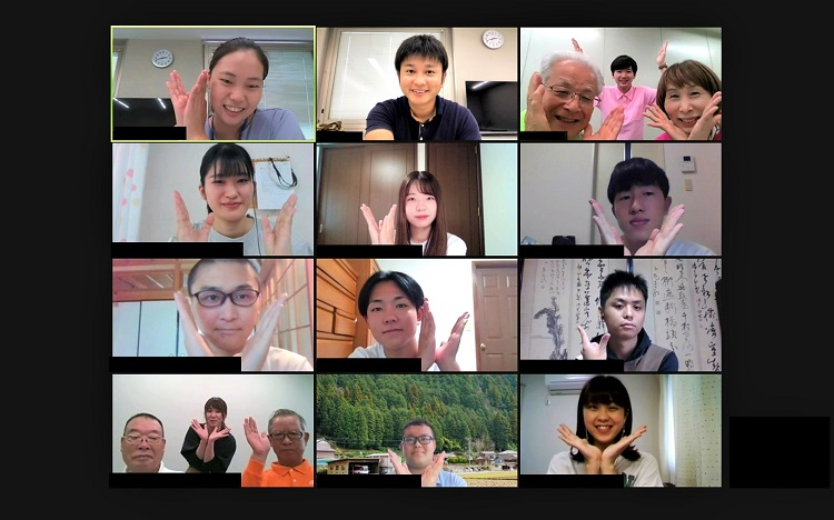 ▲オンライン会議「Zoom(ズーム)」の画面